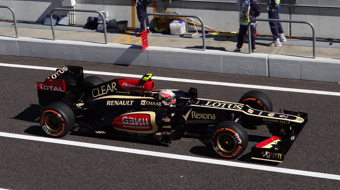 Romain Grosjean - Lotus - Formel 1 - GP Japan 2013