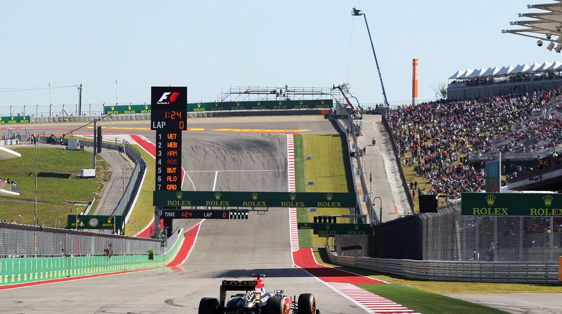 Romain Grosjean - Lotus - Formel 1 - GP USA - 15. November 2013