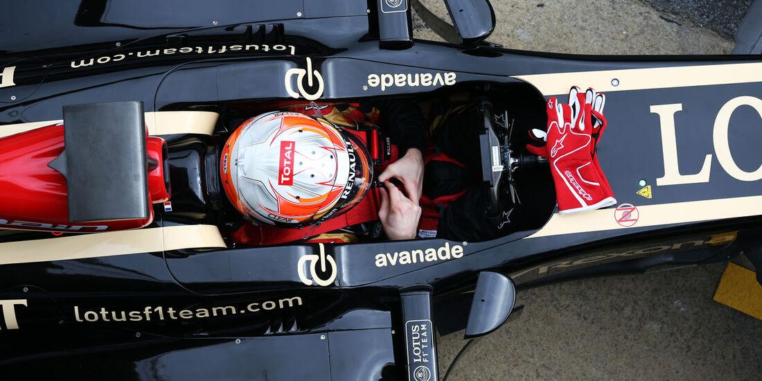 Romain Grosjean, Lotus, Formel 1-Test, Barcelona, 21. Februar 2013
