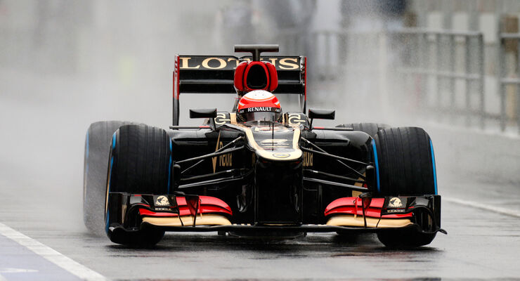 Romain Grosjean - Lotus -  Formel 1 - Test - Barcelona - 22.Februar 2013