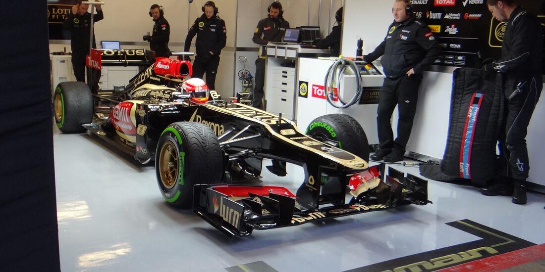 Romain Grosjean - Lotus -  Formel 1 - Test - Barcelona - 22.Februar 2013