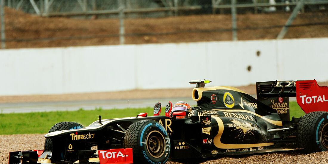Romain Grosjean Lotus GP England 2012