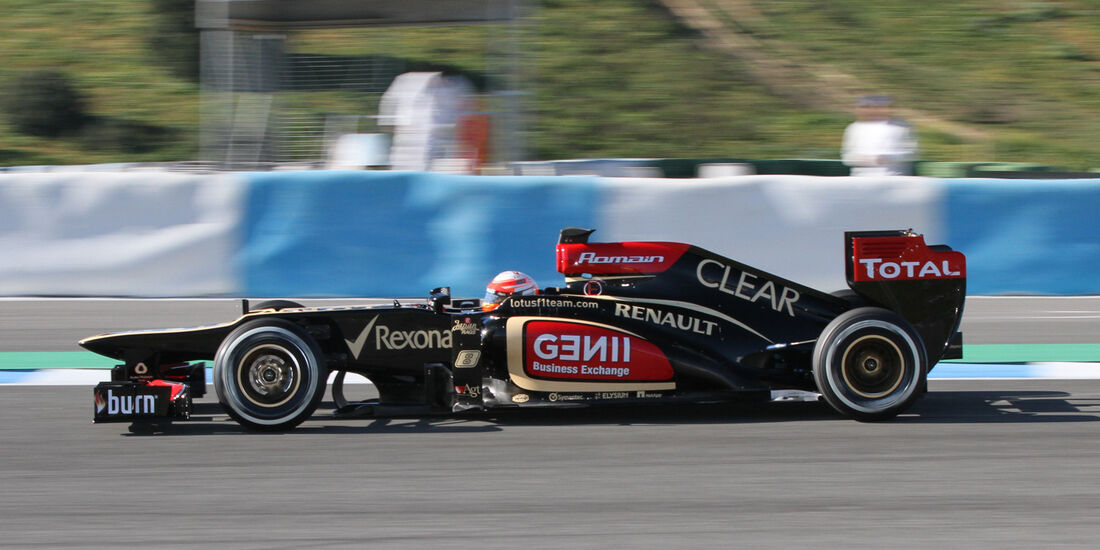 Romain Grosjean, Lotus Renault GP, Formel 1-Test, Jerez, 5.2.2013