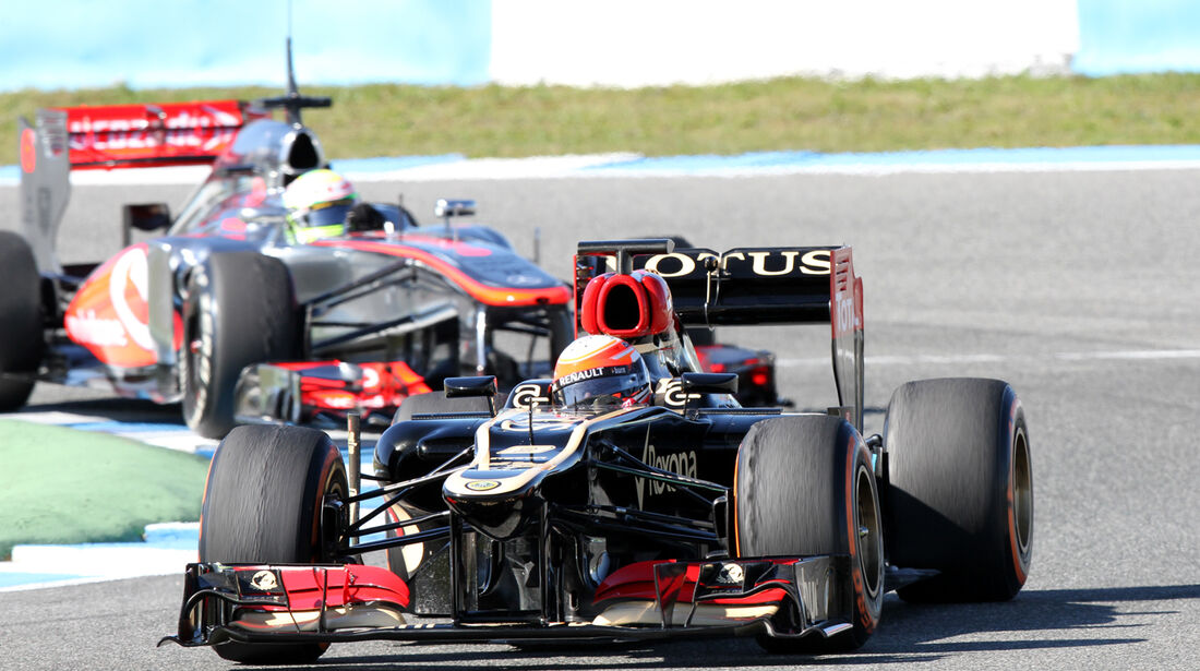Romain Grosjean, Lotus Renault GP, Formel 1-Test, Jerez, 6.2.2013
