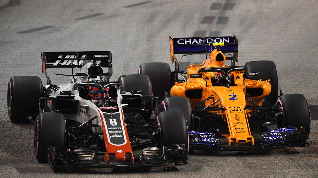 Romain Grosjean & Stoffel Vandoorne - GP Singapur 2018