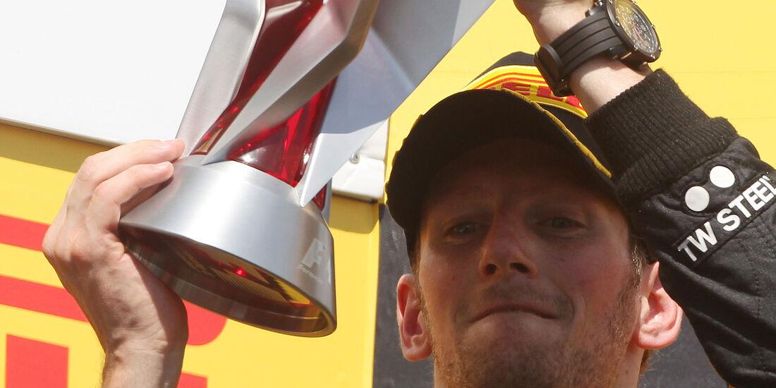 Romain Grosjean pokal