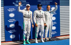 Rosberg, Hamilton & Bottas - Formel 1 - GP Belgien - Spa-Francorchamps - 22. August 2015