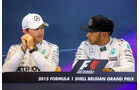 Rosberg & Hamilton - Mercedes - Formel 1 - GP Belgien - Spa-Francorchamps - 22. August 2015