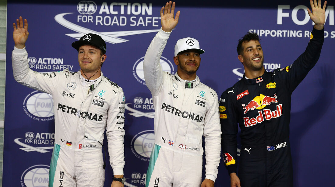 Rosberg, Hamilton & Ricciardo - Formel 1 - GP Abu Dhabi - 26. November 2016