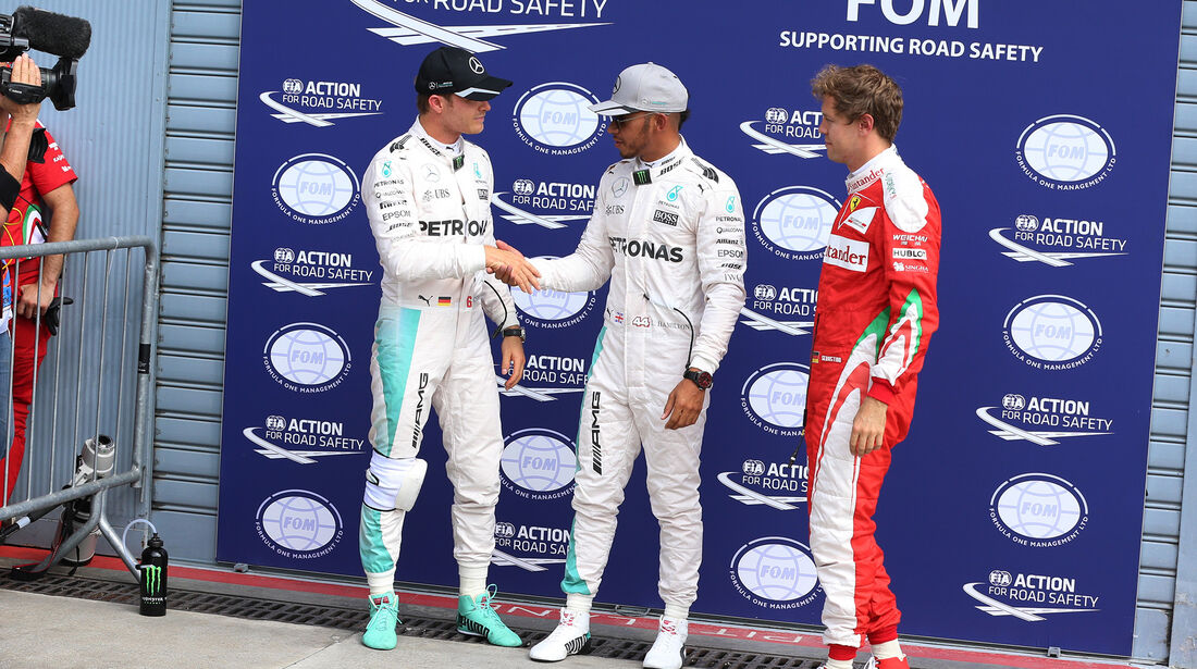 Rosberg, Hamilton & Vettel - Formel 1 - GP Italien - Monza - 3. September 2016