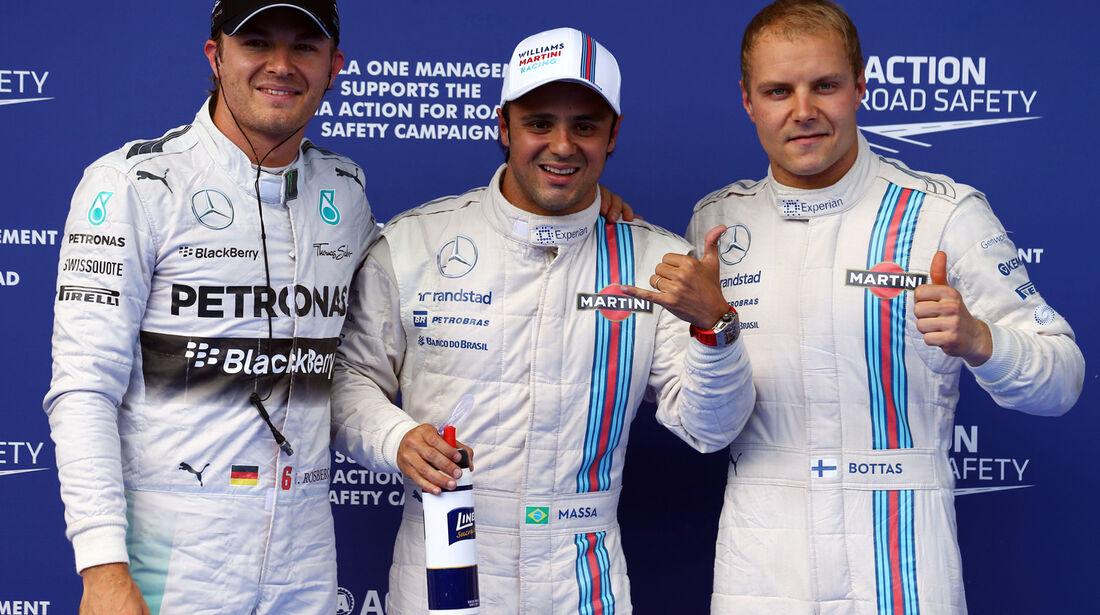 Rosberg, Massa & Bottas - Formel 1 - GP Österreich - Spielberg - 21. Juni 2014