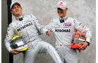 Rosberg & Schumacher F1 Fun Pics 2012