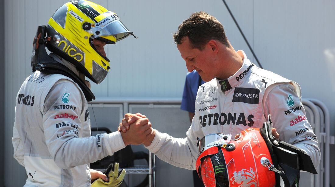 Rosberg & Schumacher - Mercedes - Formel 1 - GP Monaco - 26. Mai 2012