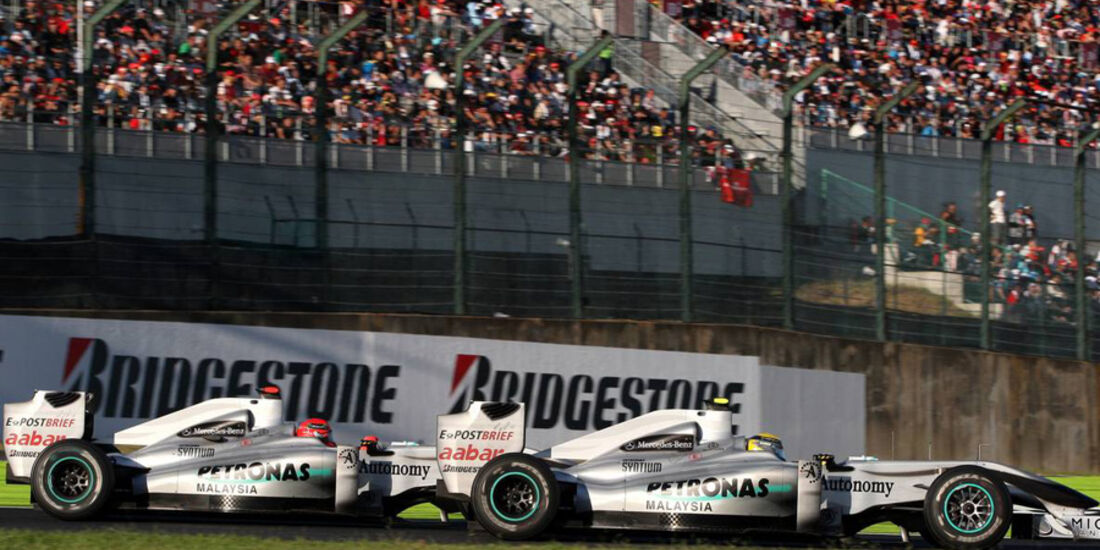 Rosberg Schumacher Mercedes GP