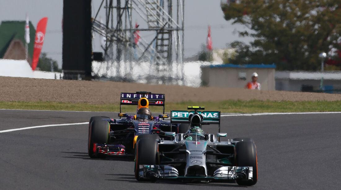 Rosberg & Vettel - Formel 1 - GP Japan - 3. Oktober 2014