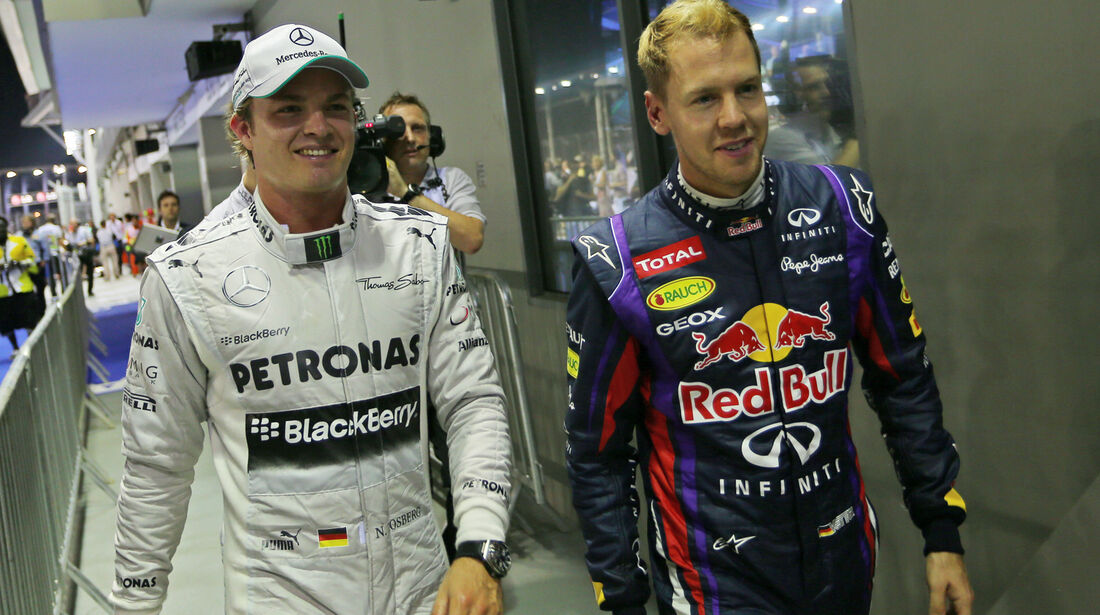 Rosberg & Vettel - Formel 1 - GP Singapur - 21. September 2013