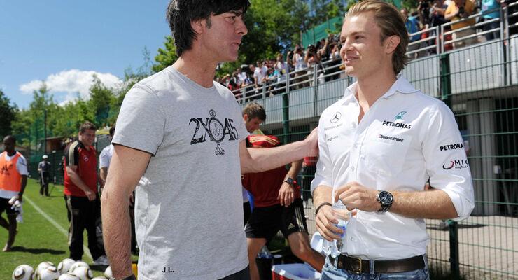 Rosberg und Löw
