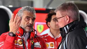 Ross Brawn & Maurizio Arrivabene - F1 2017