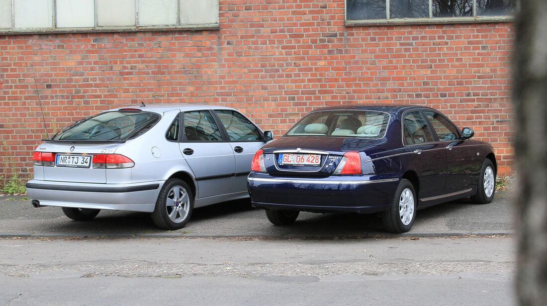 Rover 75 2.5 V6, Saab 9-3 2.0 Turbo,