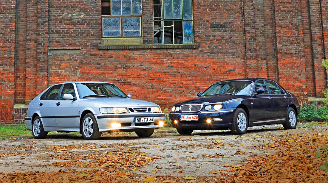 Rover 75 2.5 V6, Saab 9-3 2.0 Turbo, Seitenansicht