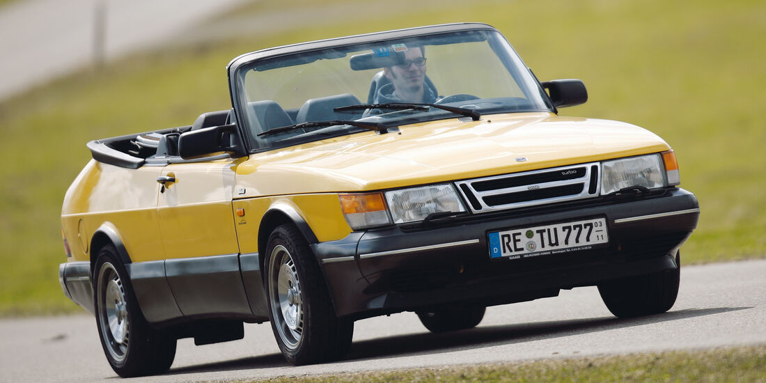 Saab 900 Cabrio, Seitenansicht