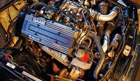 Saab 900, Vierzylindermotor