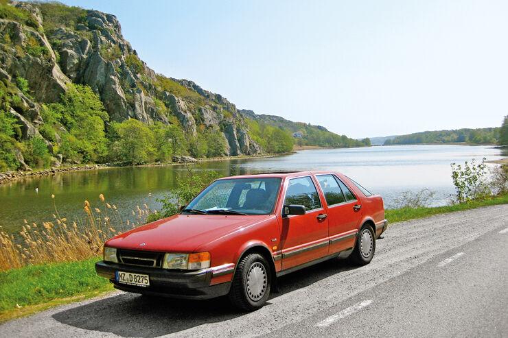 Saab 9000, Schweden, Mollösund, Frontansicht