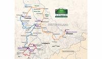 Sachsen Classic, Die Strecke: Im Dreieck Zwickau, Leipzig und Dresden - Streckenplan