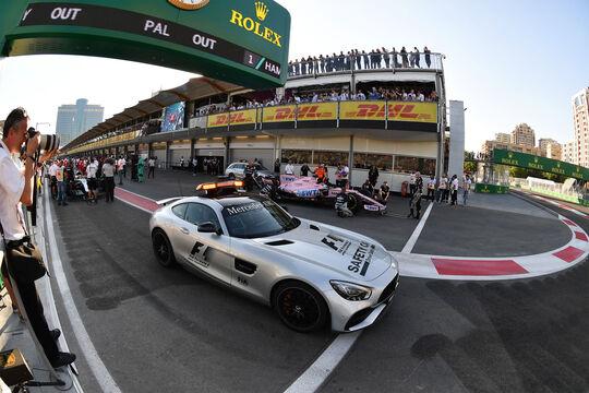 Safety Car - Unterbrechung - GP Aserbaidschan 2017 - Baku - Rennen