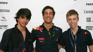 Sainz, Ricciardo & Kvyat - Formel BMW 2010