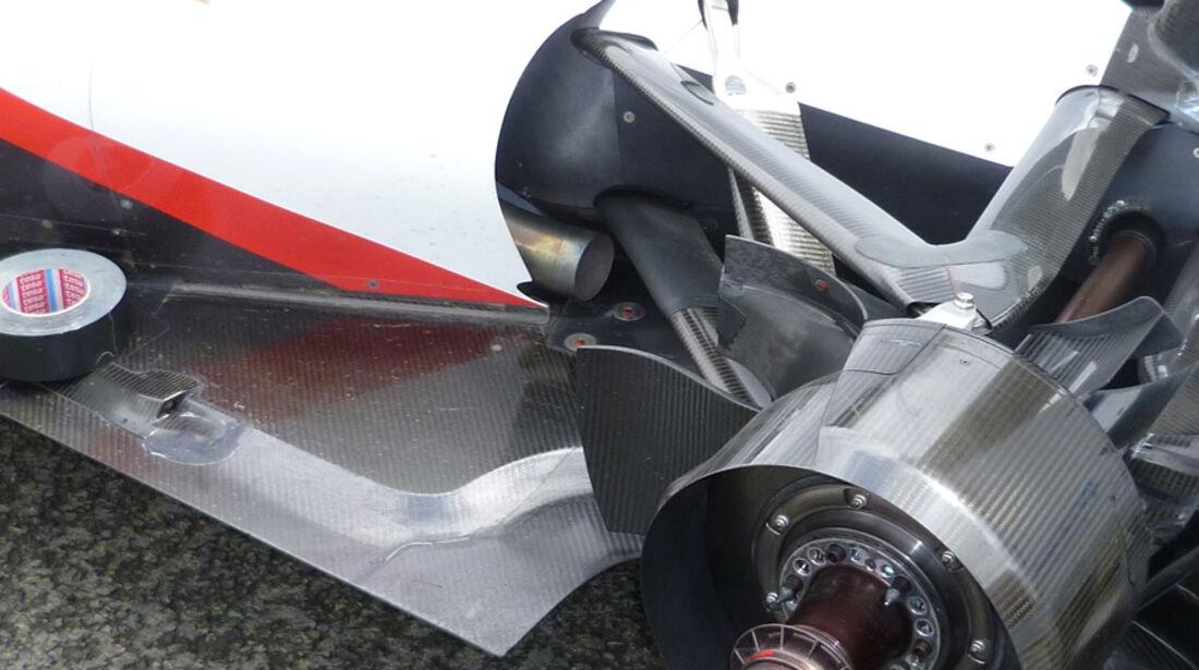 Sauber Auspuff GP England 2011