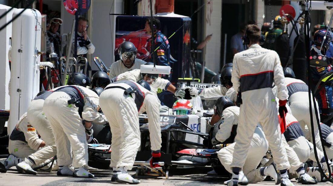 Sauber Boxenstopp  - Formel 1 - GP Europa - 24. Juni 2012