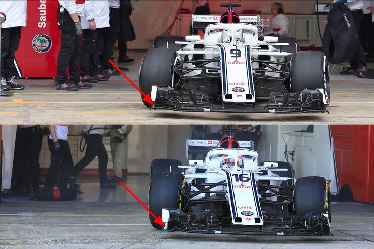Sauber - Upgrades - Formel 1 - Test - Barcelona - 2018