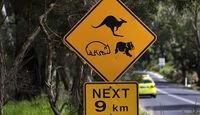 Schild, Mercedes F-Cell World Drive, 30. Etappe, Australien Lakes Entrance - Melbourne