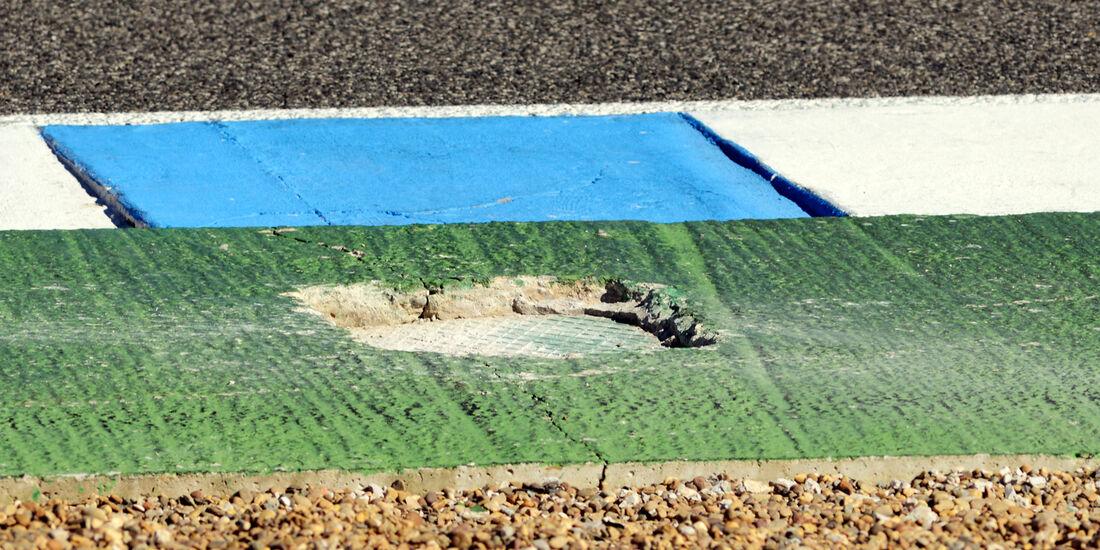 Schlagloch F1 Test Jerez 2013 Highlights