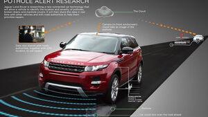 Schlaglochwarner Jaguar Land Rover