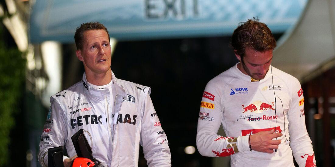 Schumacher & Vergne F1 Singapur 2012