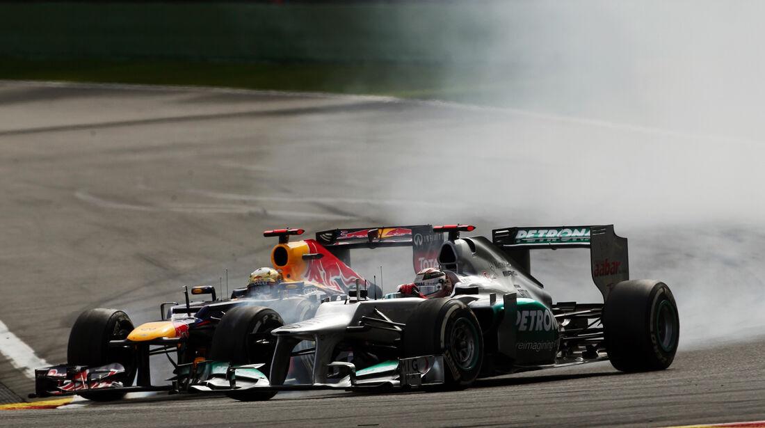 Schumacher & Vettel - GP Belgien 2012