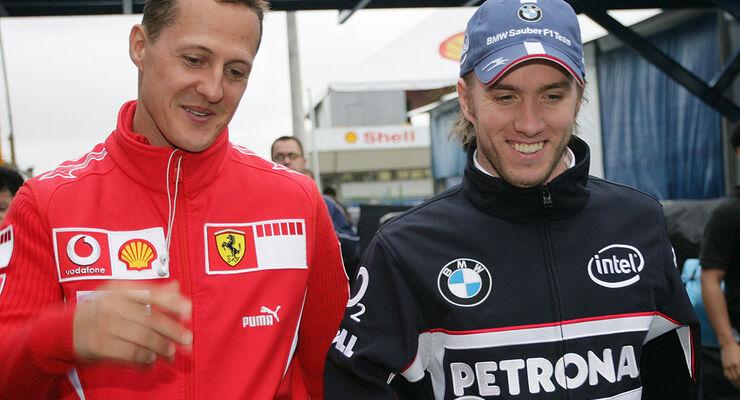 Schumacher und Heidfeld