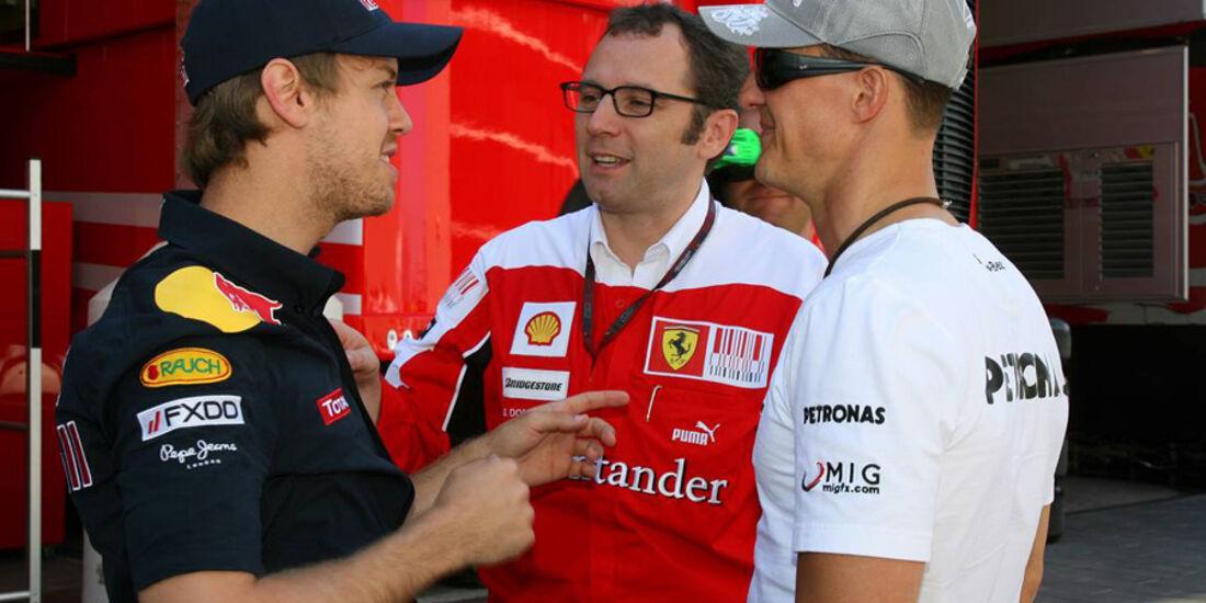 Schumacher und Vettel