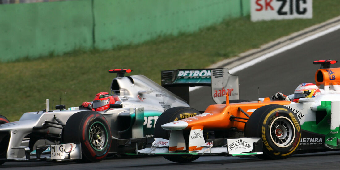 Schumacher vs. Di Resta GP Korea 2012