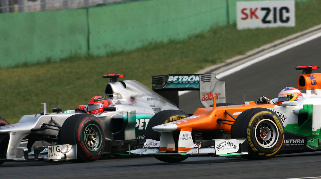 Schumacher vs. Di Resta GP Korea 2012