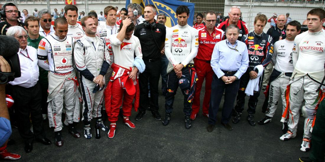 Schweigeminute GP Indien 2011