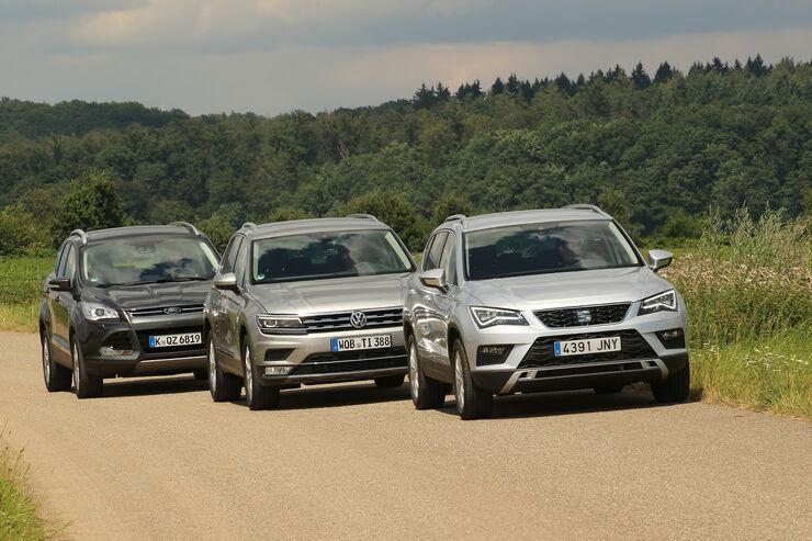 Seat Ateca, VW Tiguan, Ford Kuga, AMS1616