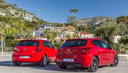 Seat Ibiza 1.0 TSI, VW Polo 1.0 TSI, Heckansicht