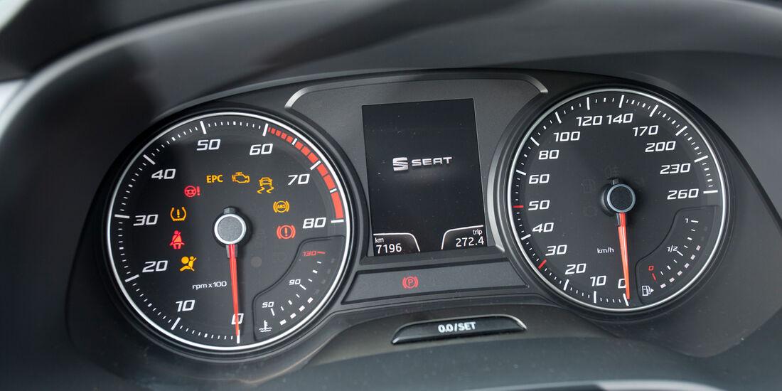 Seat Leon 1.4 TSI, Rundinstrumente