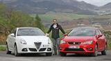 Seat Leon 2.0 TDI, Alfa Romeo Giulietta 2.0 JTDM, Frontansicht, Sebastian Renz