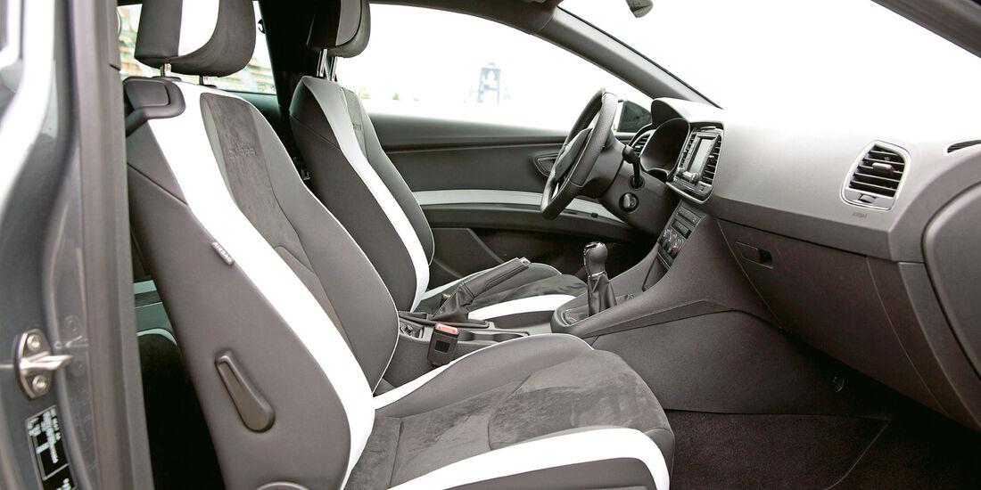 Seat Leon Cupra 280 Performance Pack, Cockpit, Sitze
