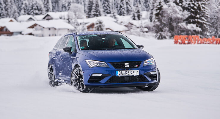 seat leon st cupra: winterfahrt mit dem power-kombi - auto motor und