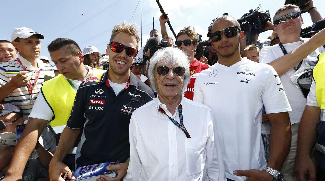 Sebastian Vettel - Bernie Ecclestone - Lewis Hamilton - GP Ungarn 2013